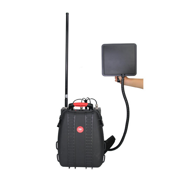 PCB-4075-UAV Man Pack Anti-Drones UAV  Max 102W, 5 Bands,   1 - 2 Hours Built-in Battery 4 Bands in One Directional Antenna