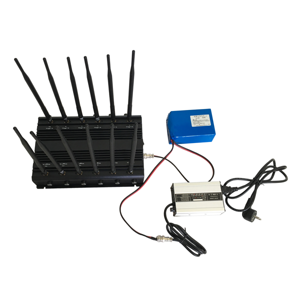 CPB-2097 Mobile Phone /5GHz/ WiFi / GPS  VHF / UHF/ 4G Jammer 12 Bands with Car Charger Adjustable Output Power
