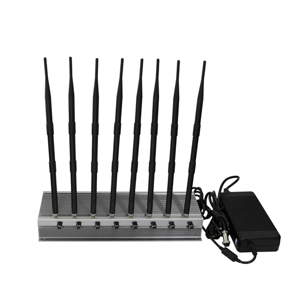 CPB-2680H Series Mobile Phone / WiFi / GPS L1 / L2 / L3/ L4/ L5/ VHF / UHF/ 4G Jammer 8 Bands 8-10W Per Band Adjustable Output Power
